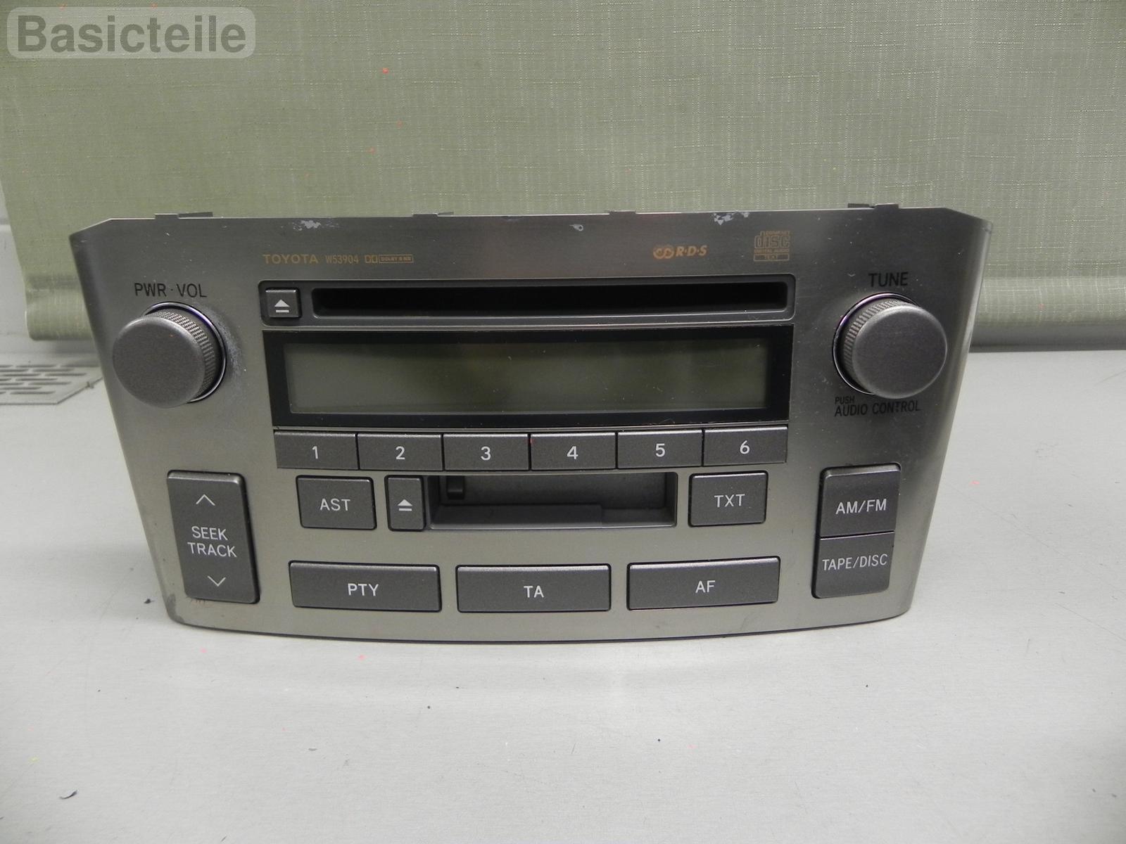 toyota avensis t25 w53904 radio cd player autoradio 86120. Black Bedroom Furniture Sets. Home Design Ideas