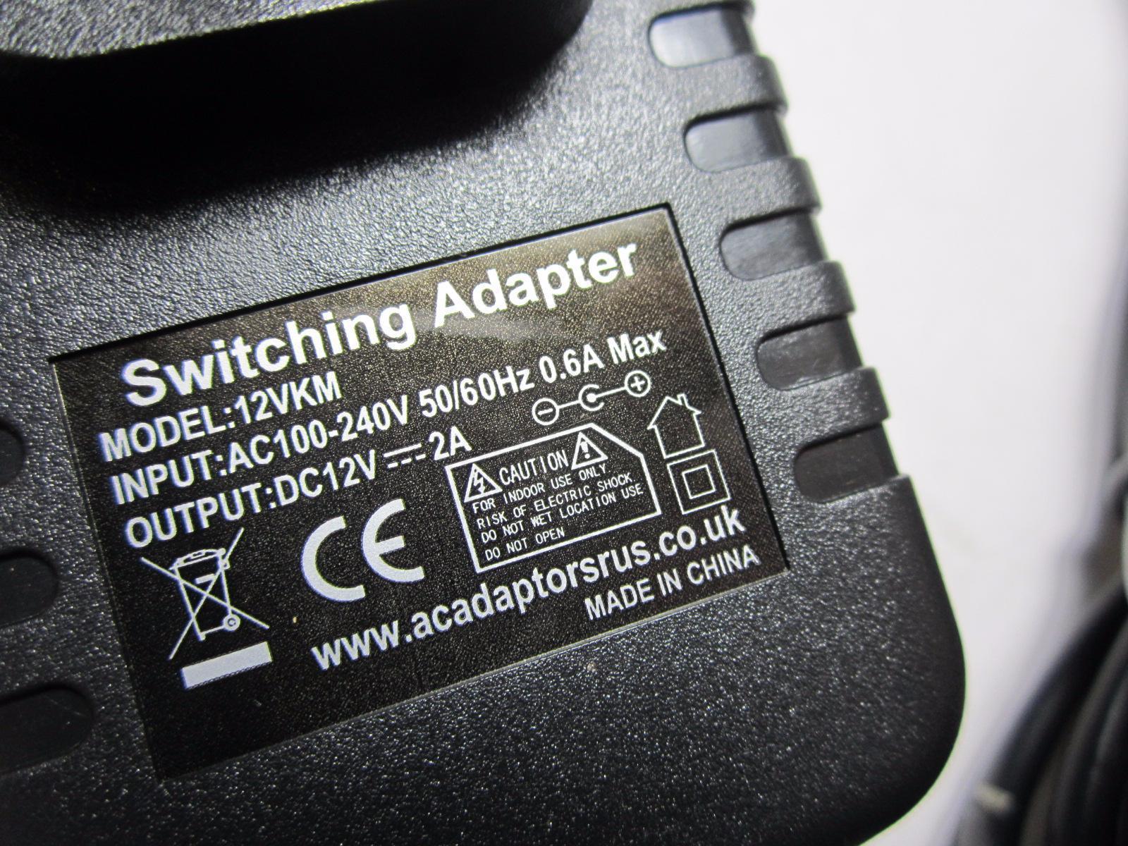 12V Power Supply 4 Philips PicoPix PPX3610 100 Lumens Multimedia Pocket Projector