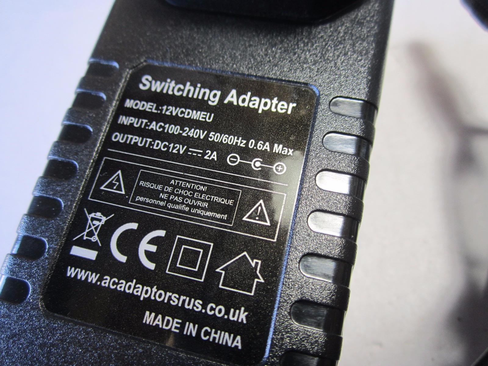Goodmans-GDVD62WLCD-Portable-DVD-Player-12V-AC-Adaptor-Power-Supply-Charger-EU