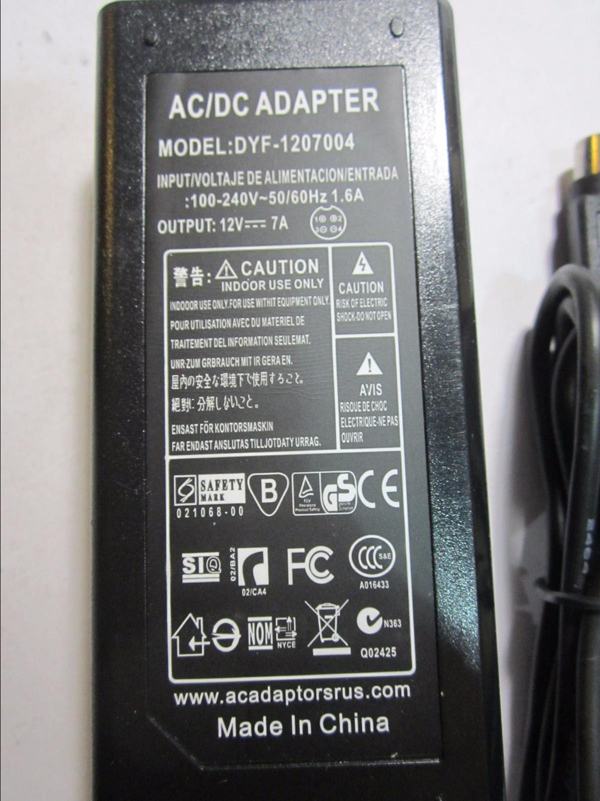 Replacement CWT AC Adapter model KPC-024F 24W 12.0V 2.0A 4 Pin DIN Connector