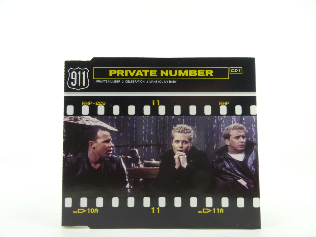 911-PRIVATE-NUMBER-EX-VG-3-Track-CD-Single-Picture-Sleeve-VIRGIN-RECORDS