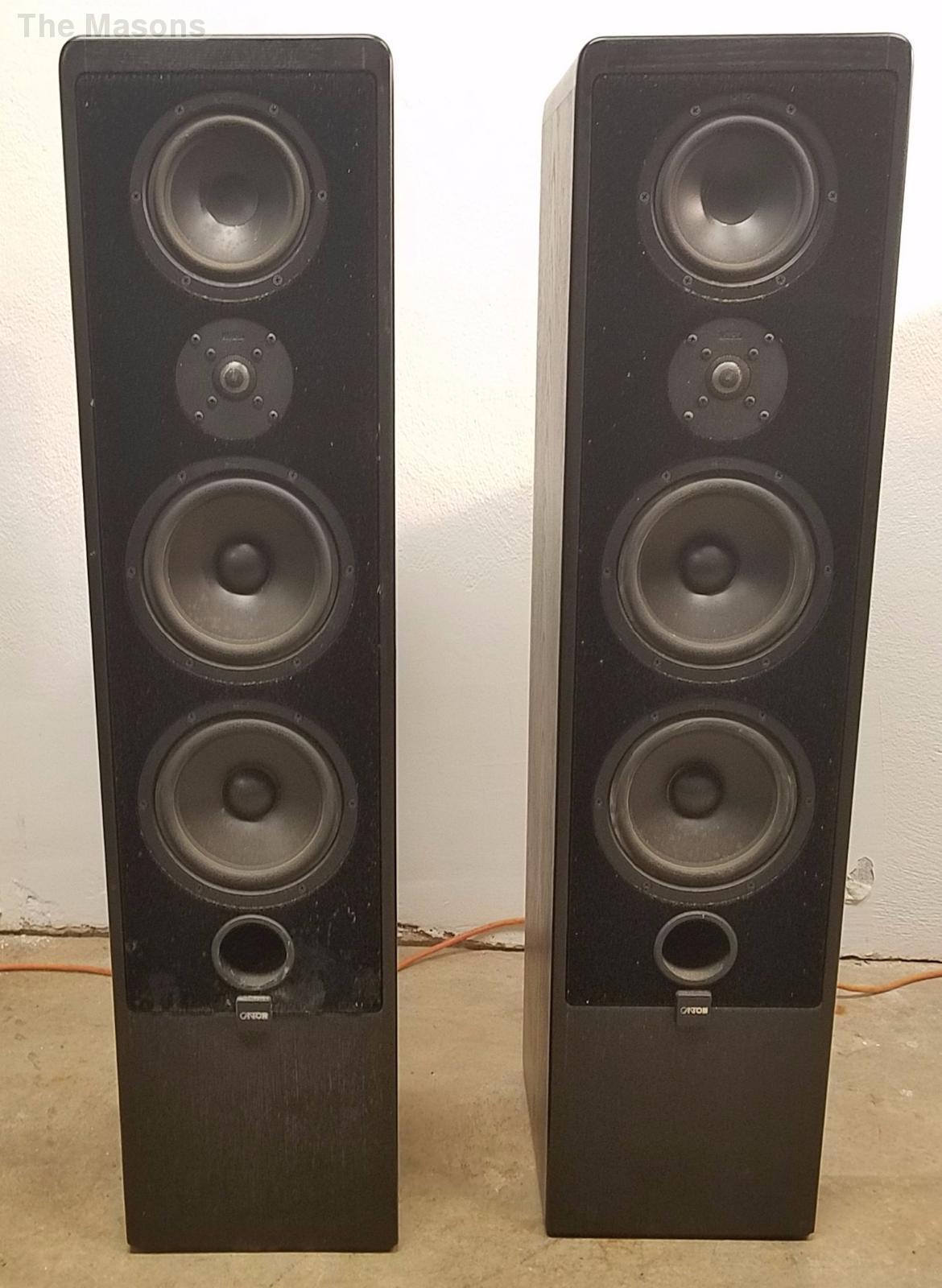 vintage canton ergo 90 german tower speakers black oak. Black Bedroom Furniture Sets. Home Design Ideas