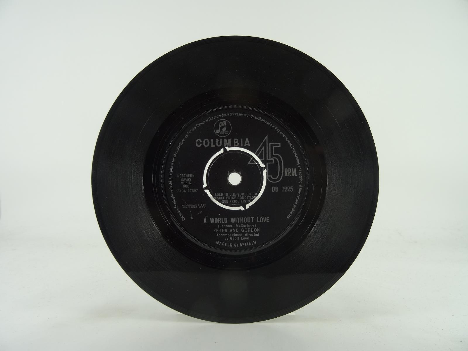 PETER-AND-GORDON-A-WORLD-WITHOUT-LOVE-71-2-VG-2-Track-7-034-Single-Plain-Pap