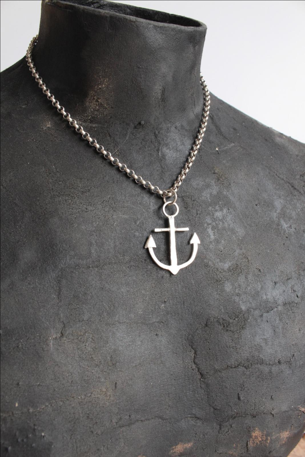 vintage hope charm bead pendant chain necklace