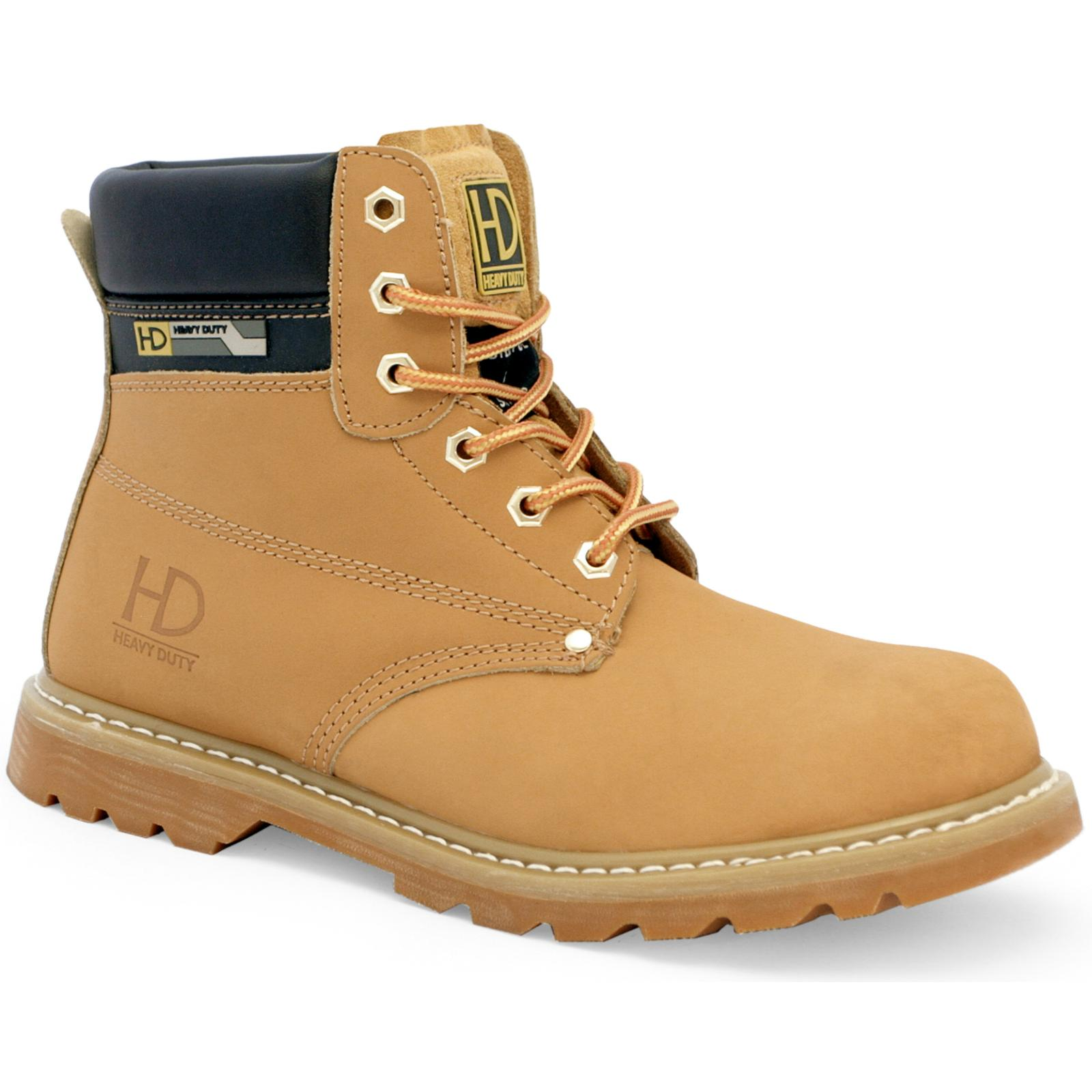 ed377d00662 Details about Heavy Duty Yellow Leather Steel Toe Cap SBP Safety Boots