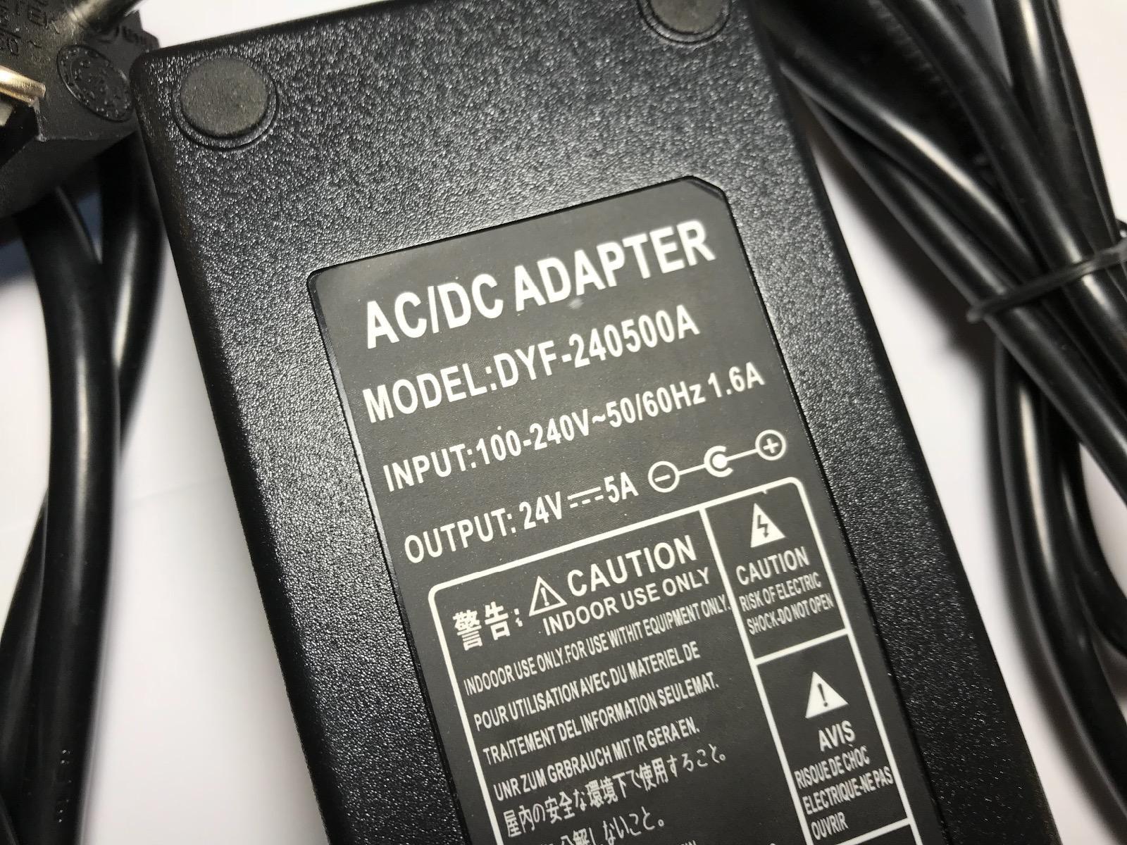 Eu Plug 24v 5a 5000ma Ac Dc Switching Adaptor Power Supply 55mm X 6a Click To Enlarge