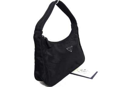 468fa8a6e59e Auth Vintage Prada Black Tessuto Sport Nylon Mini Hand Bag Pochette ...