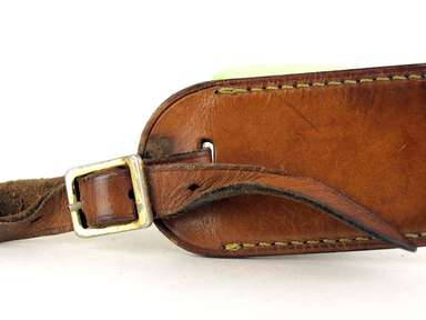 2e18ce8cf8b ... Louis Vuitton Brown   Tan leather luggage Small nametag France. Photo  gallery
