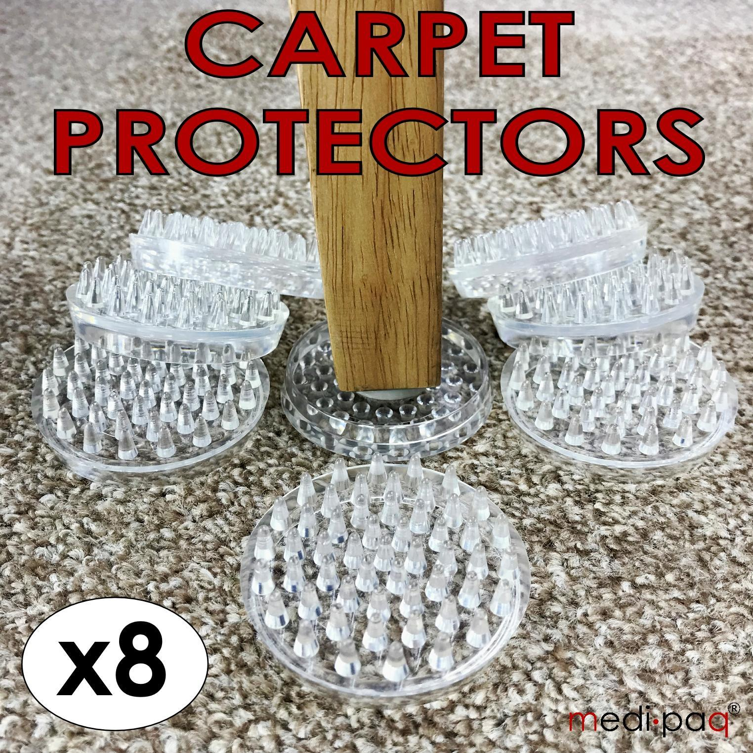 8x Carpet Protectors Cups Rug Mat Sofa Settee Chair Furniture Table