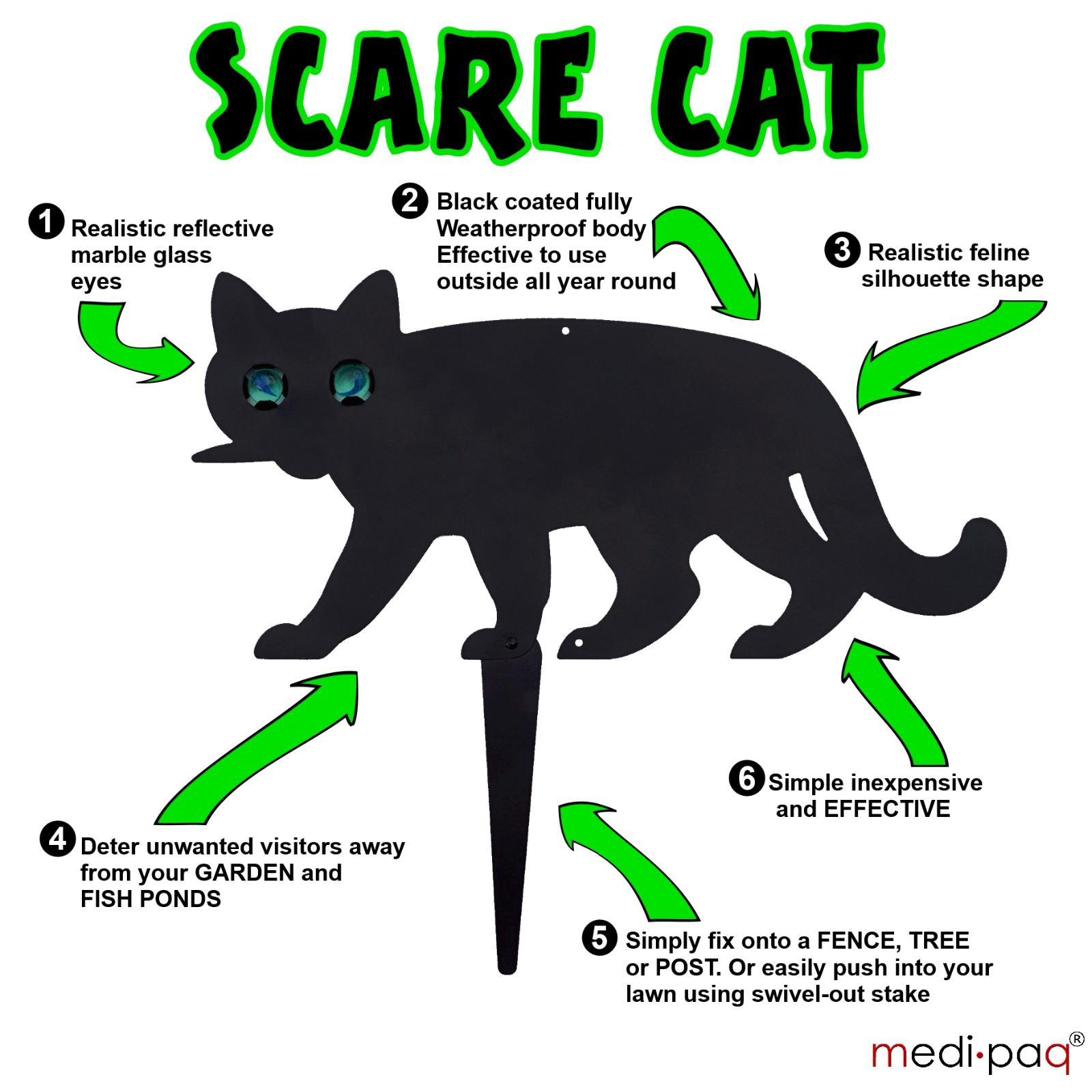 Summer Solutions For Pests Yard Work More: 2x SCARE CAT Garden Scarer Stop Pest Control Deterrent