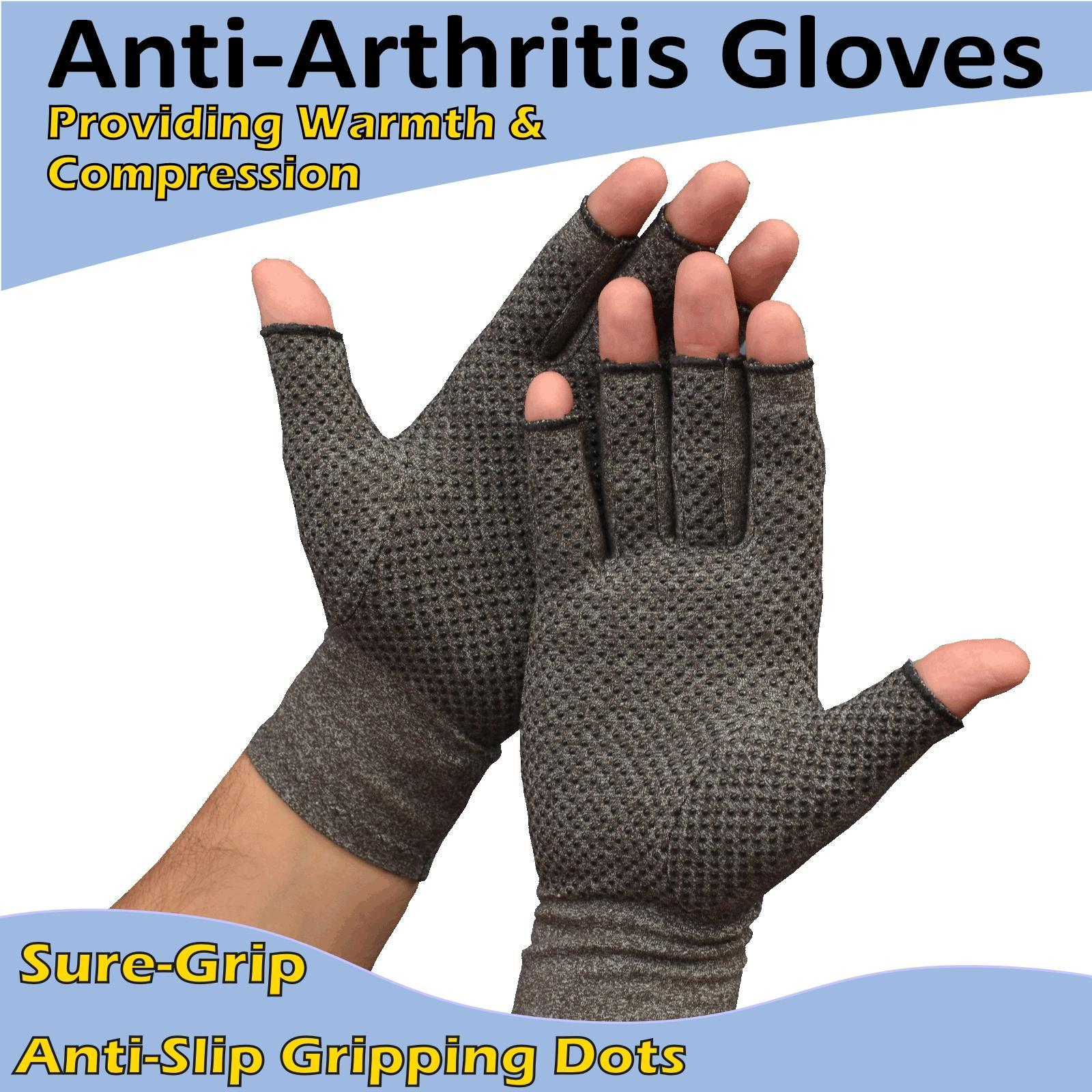 Details About Active Arthritis Gloves Grip Hand Compression Joint Arthritic Pain Relief