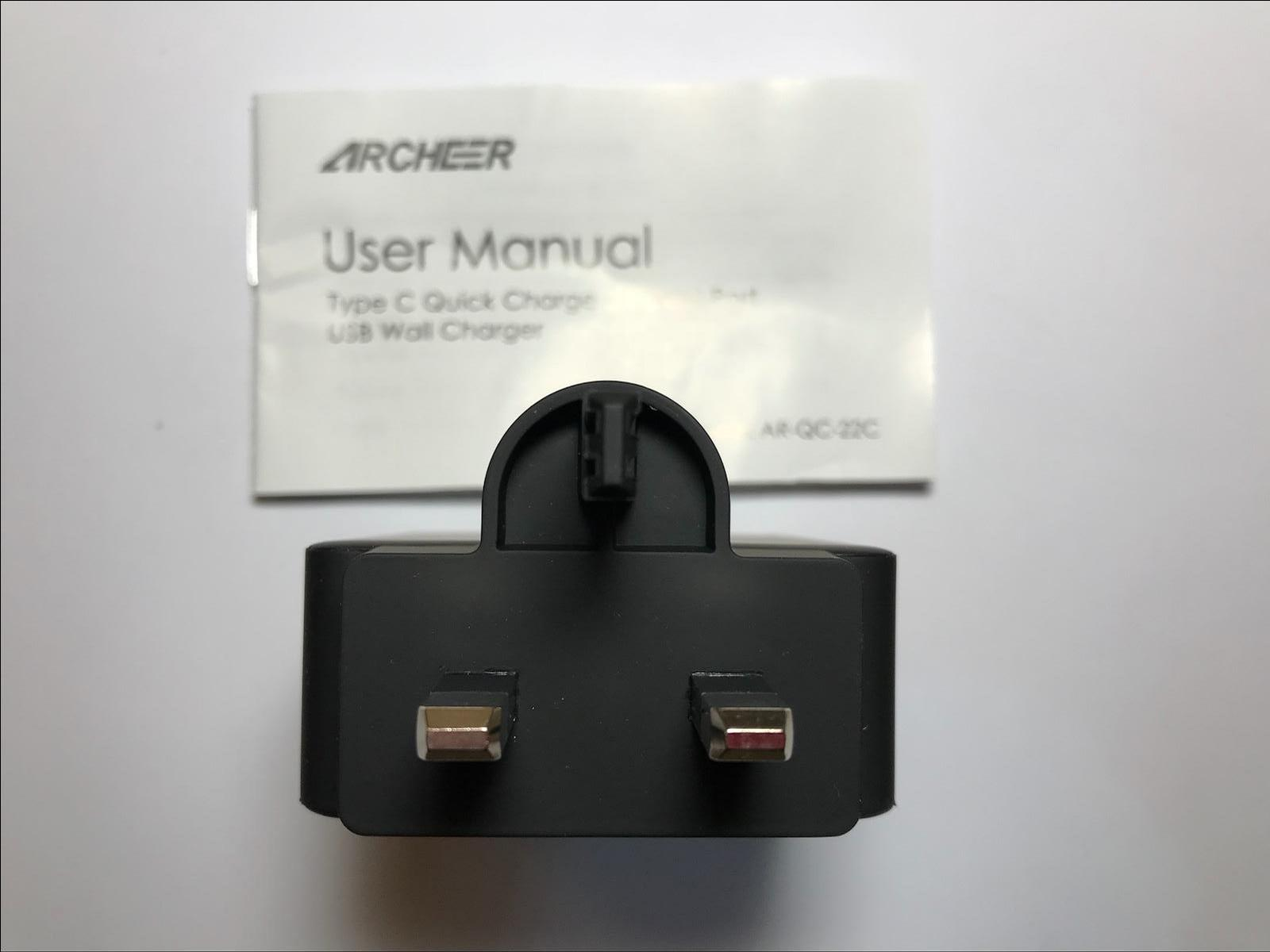 ARCHEER AR-QC-22C Qualcomm 3 0 Quick Charge USB USB-C UK
