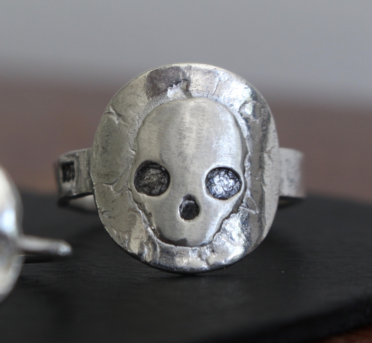 Skull Ring Sterling Silver 925 London